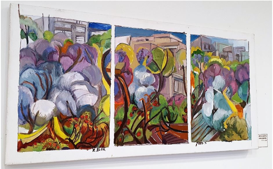 ציורה של האוצרת רבקה וייס בלוק באקדמית גורדון (צילום: נילי בנו)