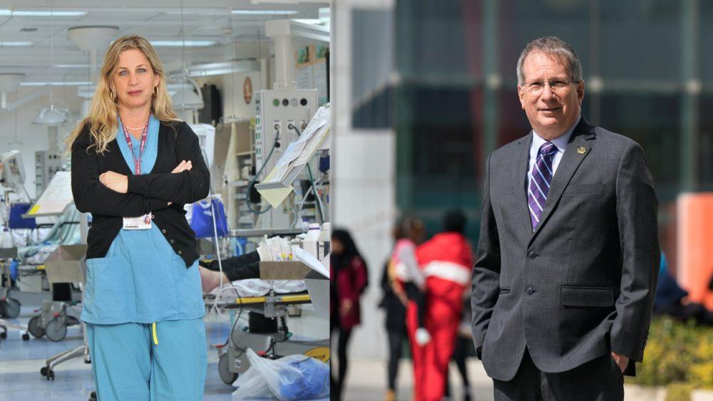 """מנהל רמב""""ם וגילה היימס, מנהלת הסיעוד בבית החולים"""