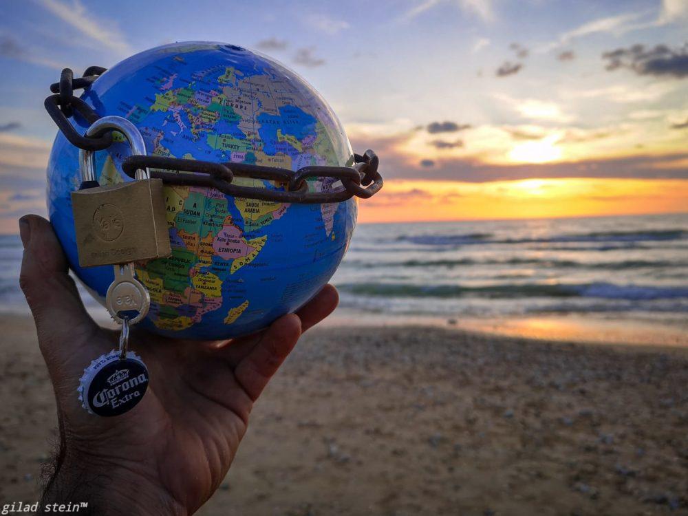 כדור הארץ ננעל יחד עם חוף הים בחיפה (צילום גלעד שטיין)