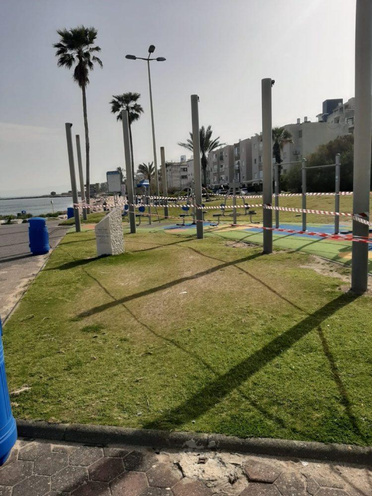סגר קורונה בחופי חיפה (צילום: חי פה)