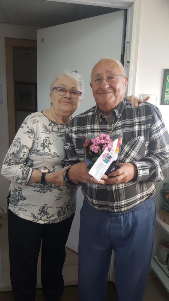 """""""פרח נתתי לסבתא"""" - פרויקט של """"שגרירי רוטשילד"""" בתקופת סגר הקורונה"""