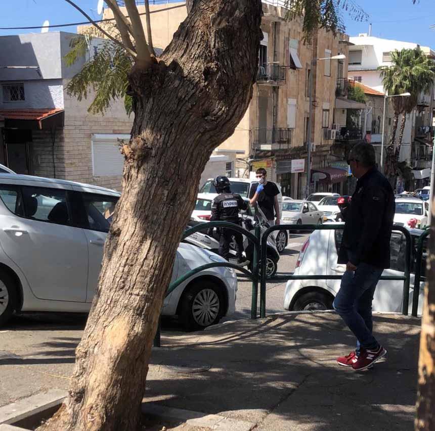 חשד למטען חבלה בחיפה - אזור הואדי נחסם (צילום: חי פה)
