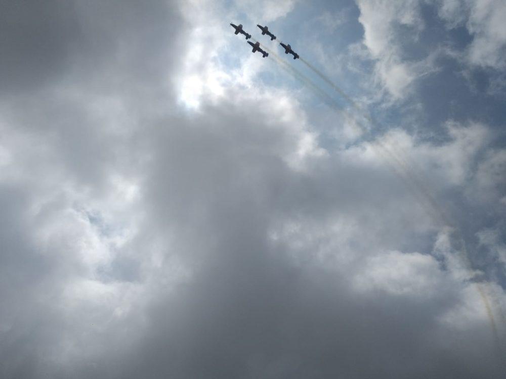 מטס חיל האוויר בחיפה - יום העצמאות - 29/4/20 (צילום: חי פה)