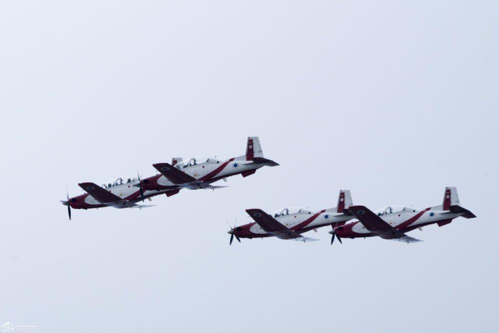 מטס חיל האוויר בחיפה - יום העצמאות - 29/4/20 (צילום: אלינה ליברמן)