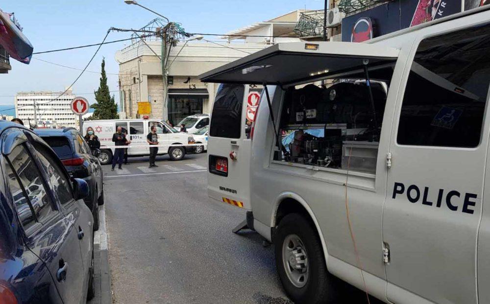 חסימות בחיפה בשל חשד למטען חבלה (צילום: משטרת ישראל)