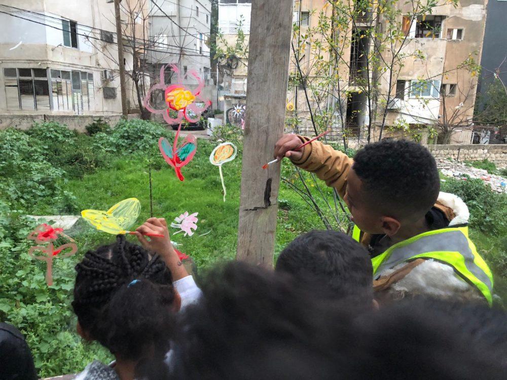 גינת החלומות של הילדים - פרויקט הגינה הקהילתית ברחוב סירקין בחיפה (צילום: ניב אוז'לבו (עוז))