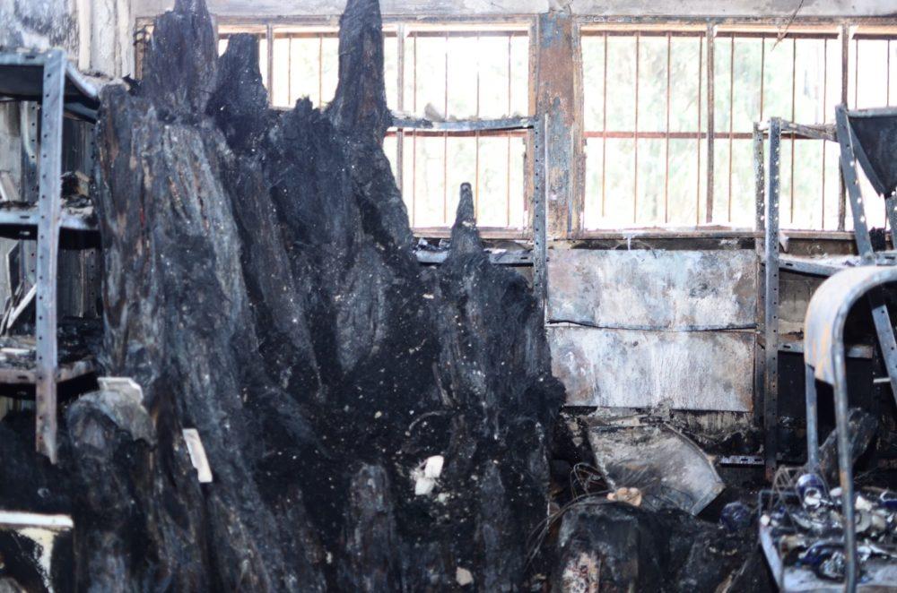 שוק תלפיות בחיפה ביום שאחרי השרפה (צילום: חגית אברהם)