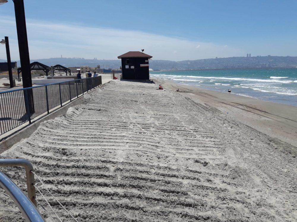 חוף קריית חיים אחרי  - צילום גידי בטלהיים, המשרד להגנת הסביבה