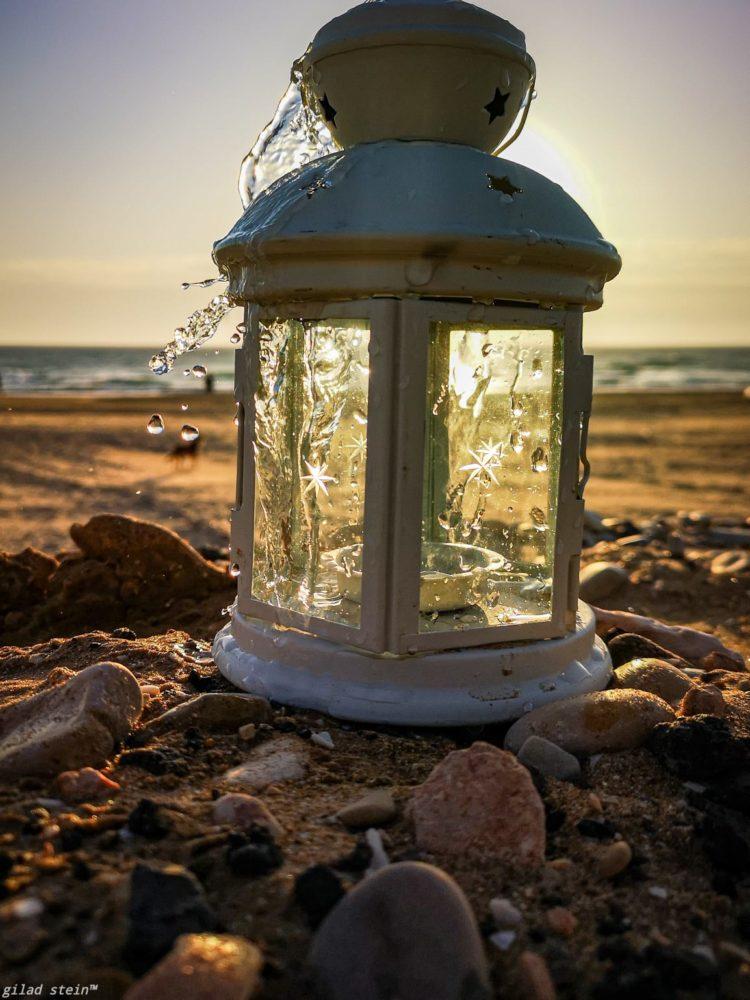 עששית בחוף הים (צילום: גלעד שטיין)