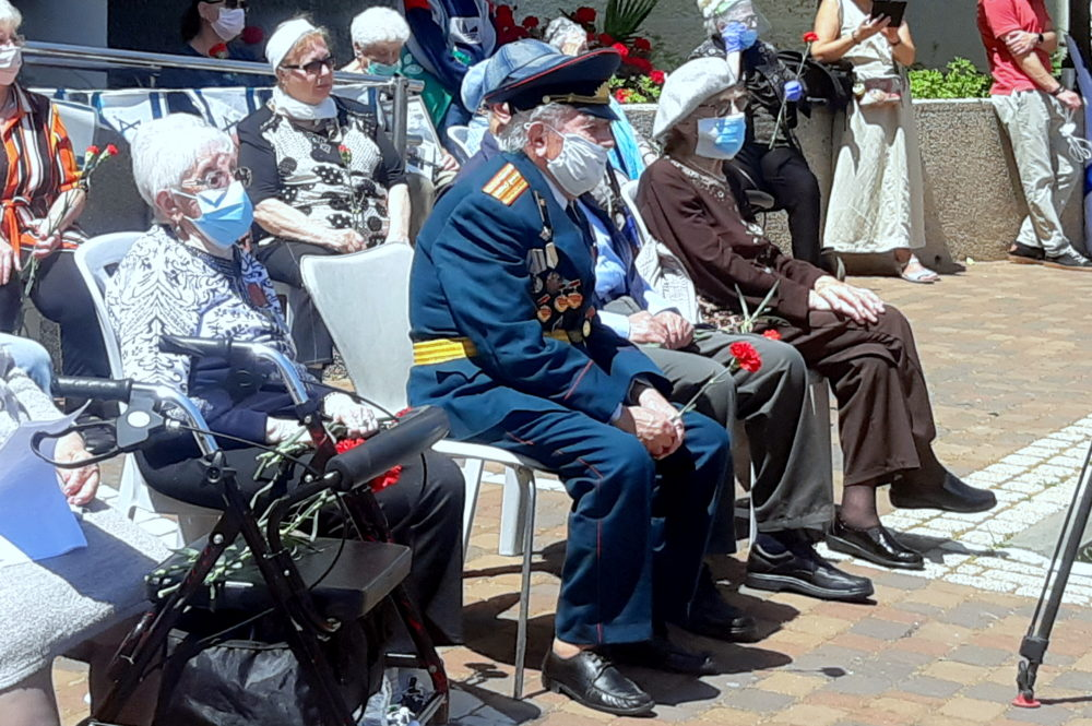יום הנצחון 75 בחיפה בצל הקורונה (צילום: אדיר יזירף)