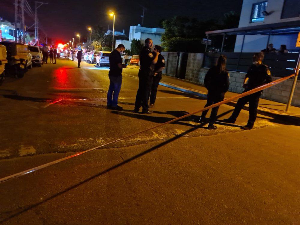 אירוע ירי בקריית אתא (צילום: משטרת ישראל)