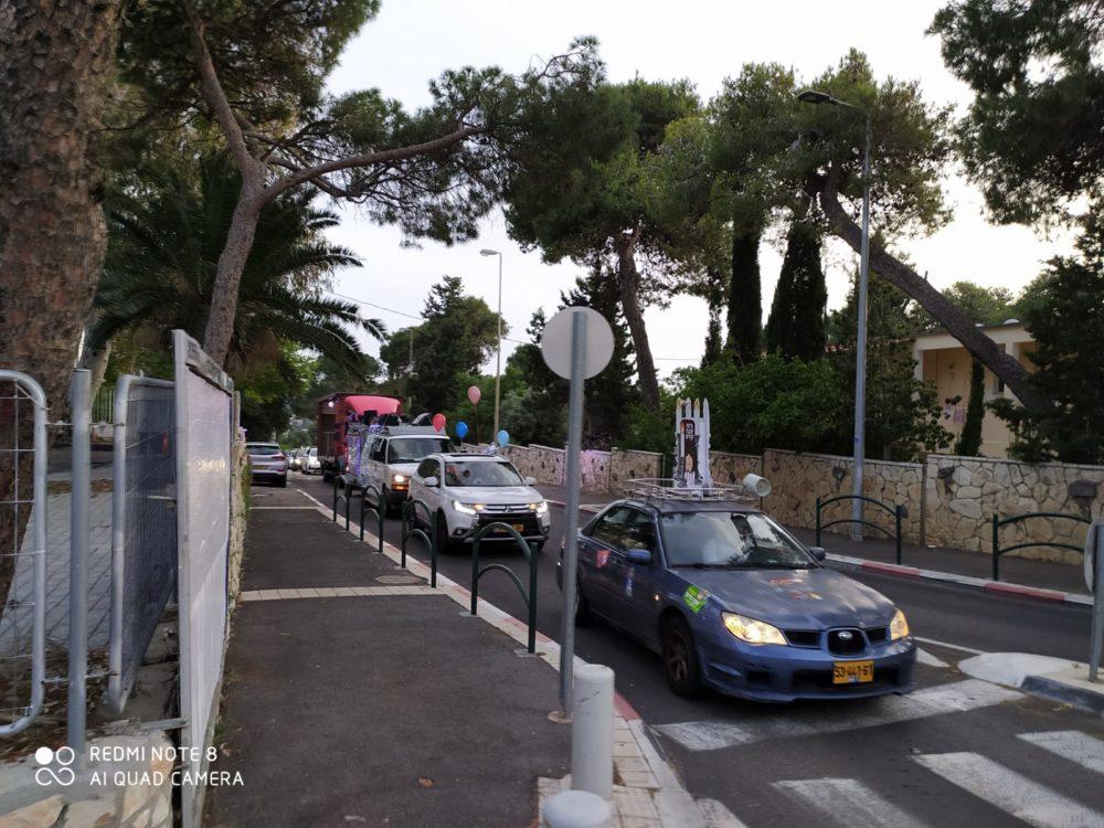 """משאית השמחה של חב""""ד - ל""""ג בעומר בחיפה (צילום: קובי סרור)"""