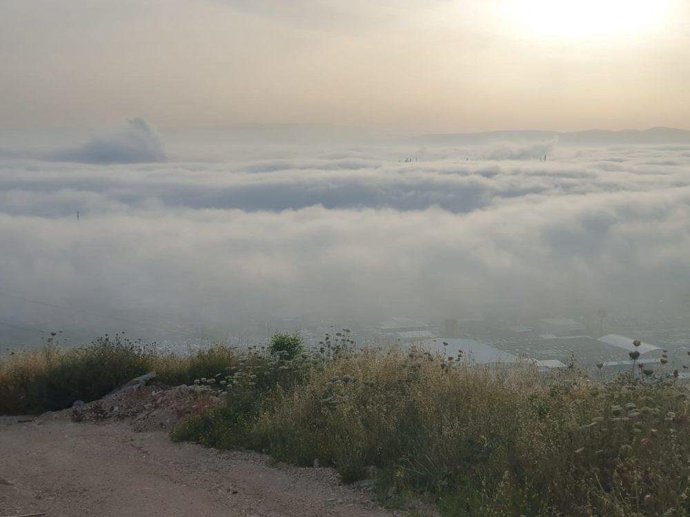 ערפל כבד במפרץ חיפה (צילום: ערן כהן)