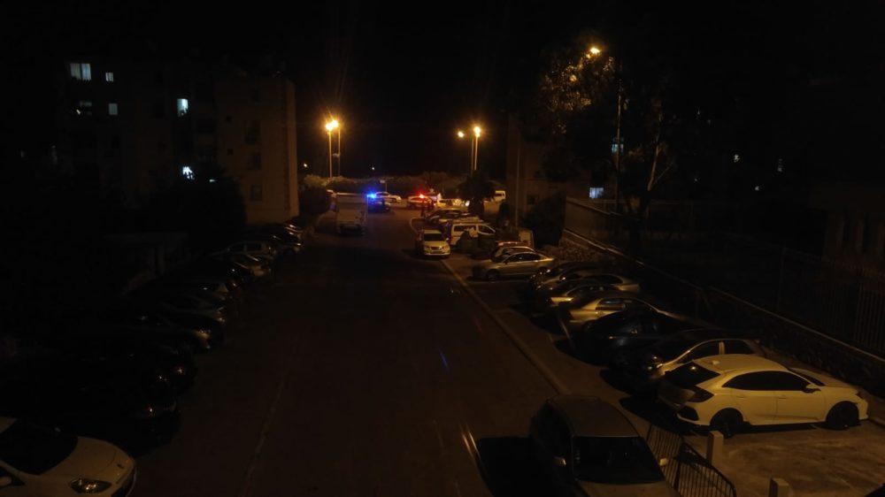 ירי בשכונת שער העליה בחיפה (צילום: חי פה)
