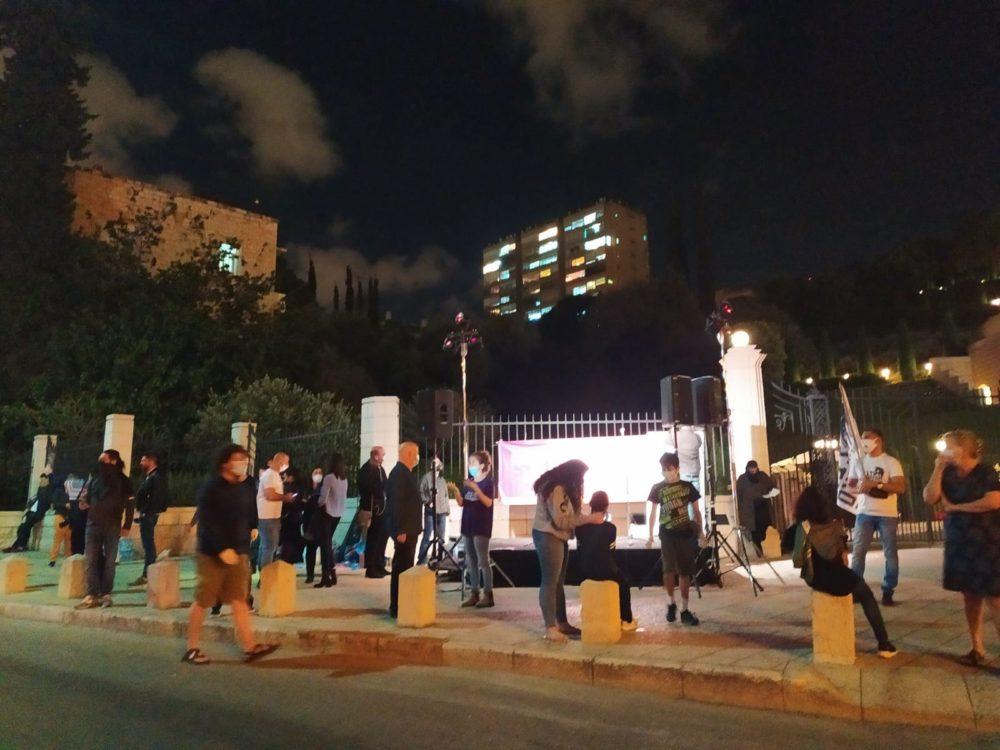 מחאת העצמאים בחיפה - שדרות בן גוריון 2/5/20 (צילום: חגית אברהם)