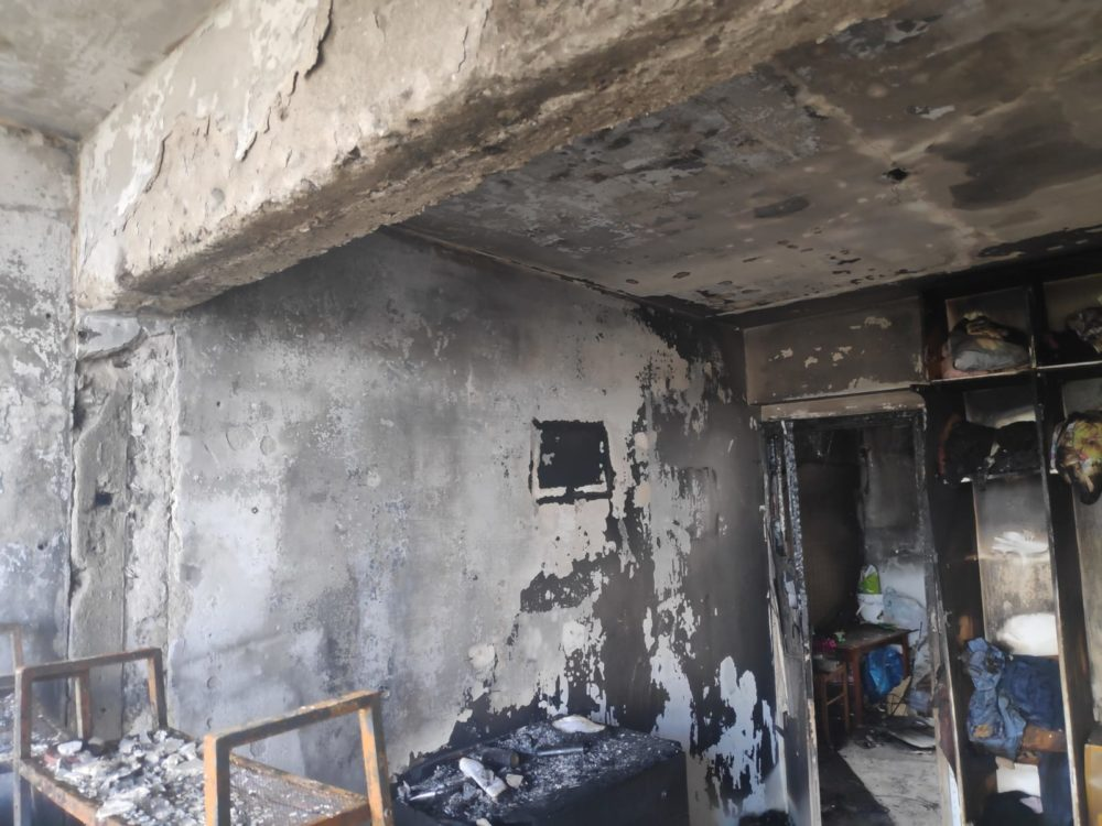 שריפה בבית לחם בחיפה (צילום: כבאות והצלה)