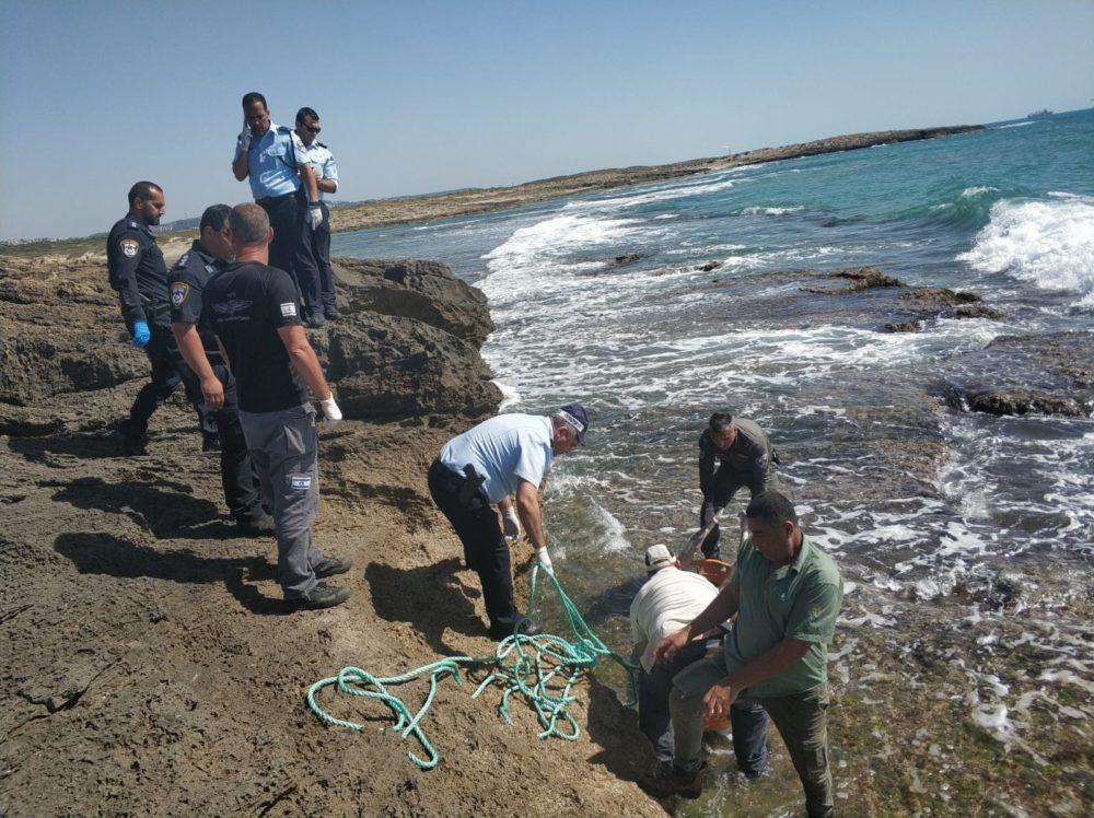 איתור נעדר בחוף עתלית(צילום: משטרת ישראל)