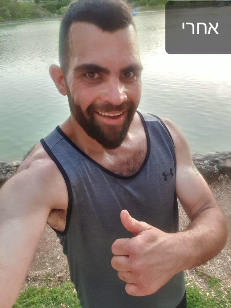 פרג סולימאן לאחר הדיאטה שעשה עם הדיאטנית דועאא קטיש