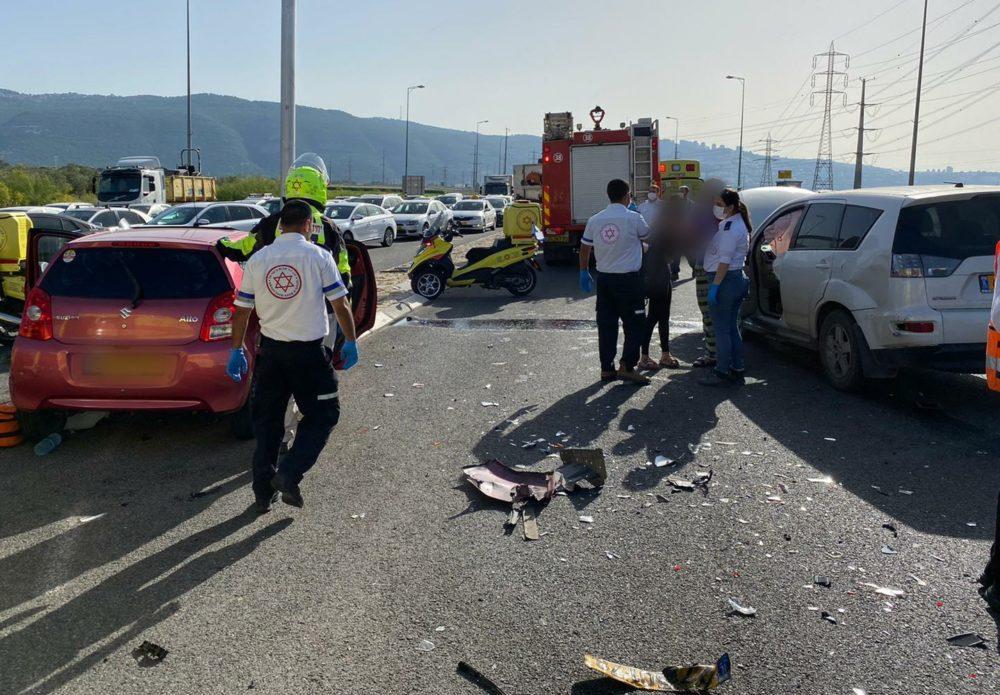 תאונת דרכים צומת זבולון( צילום: איחוד הצלה)