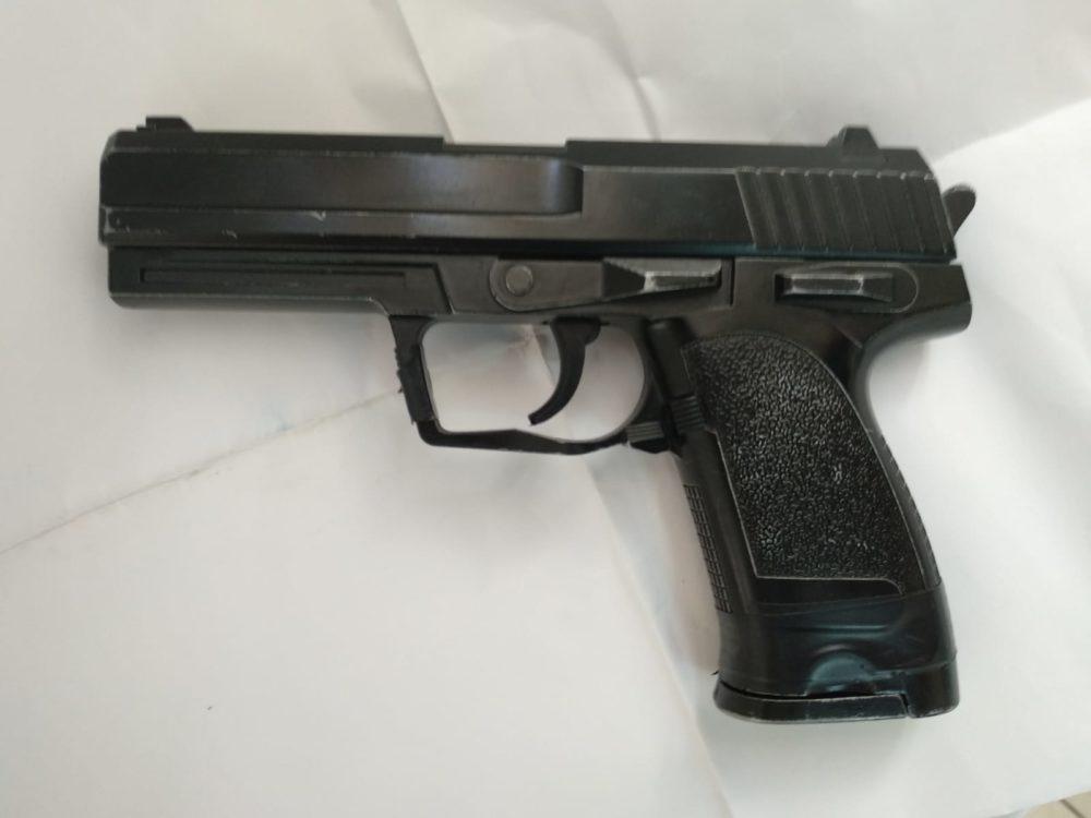 אקדח (צילום: משטרת ישראל)