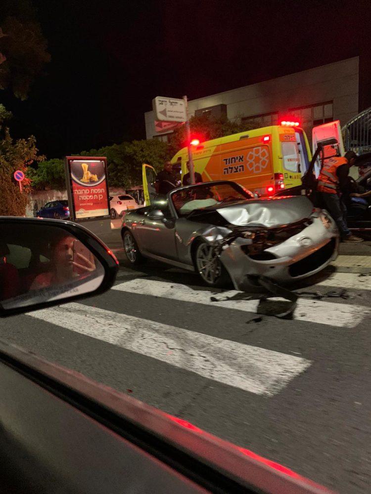 תאונת דרכים בחיפה (צילום: רון טולדנו)