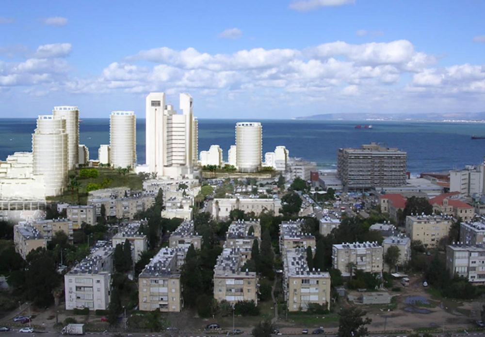 """הדמיה - שכונה חדשה שתקום במקום בה""""ד חיל הים בחיפה (באדיבות משרד האדריכלים בני איזק)"""