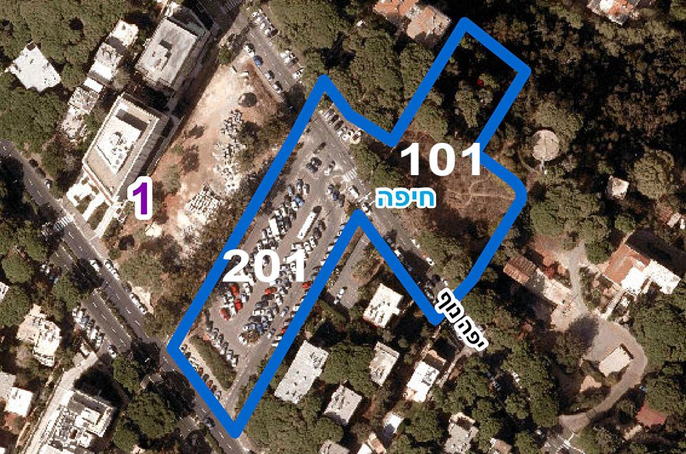 תכנית לבניית מלון ומגורים ברחוב יפה נוף (צילום מתוך הוראות התכנית)