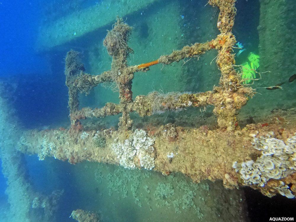 שרידי האוניה (צילום: אמיר וייצמן)