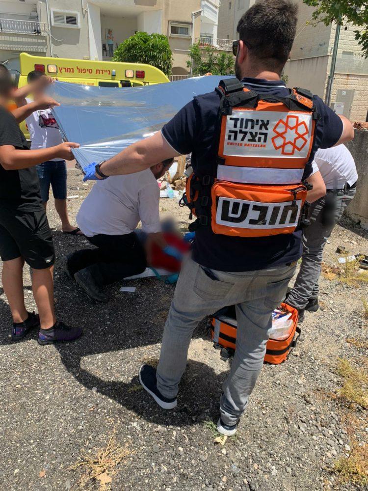 פצוע בן 12 (צילום: איחוד הצלה)