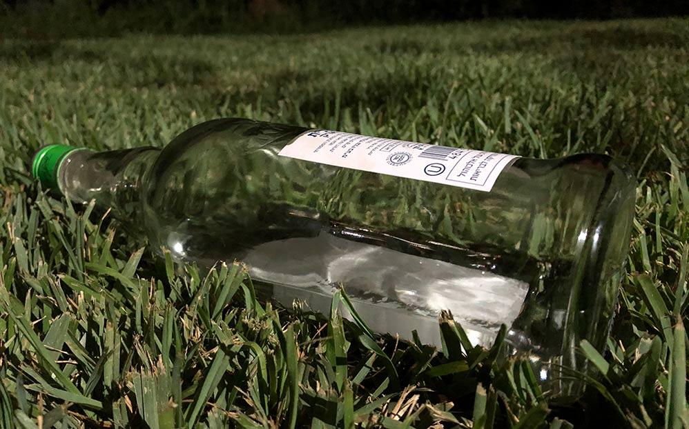 בקבוק אלכוהול (צילום: ירון כרמי)