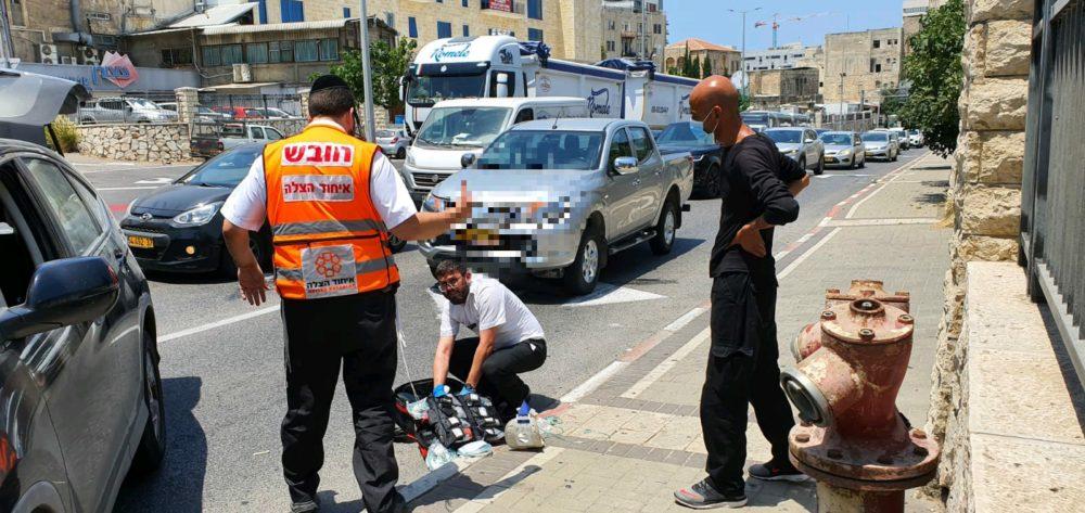 תאונה בחיפה (צילום: איחוד הצלה)