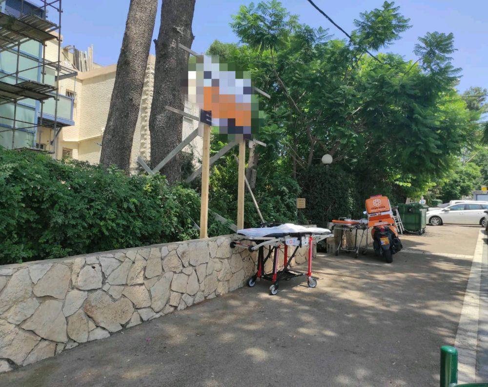 אתר בנייה (צילום: איחוד הצלה)