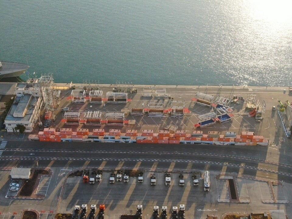נינג'ה בנמל חיפה (צילום: מרום בן אריה)