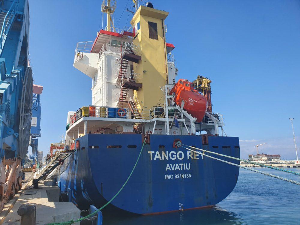 האוניה טנגו ריי. צילום - ניר לוינסקי, המשרד להגנת הסביבה