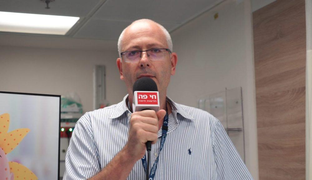 """ד""""ר אבי גולדברג • פתיחת מוקד לילה וסוף שבוע של כללית בבית החולים כרמל (צילום: ירון כרמי)"""