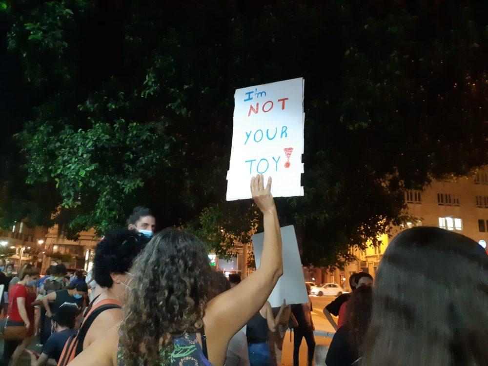 הפגנה בחיפה נגד תרבות האונס (צילום: טלי מילוא)