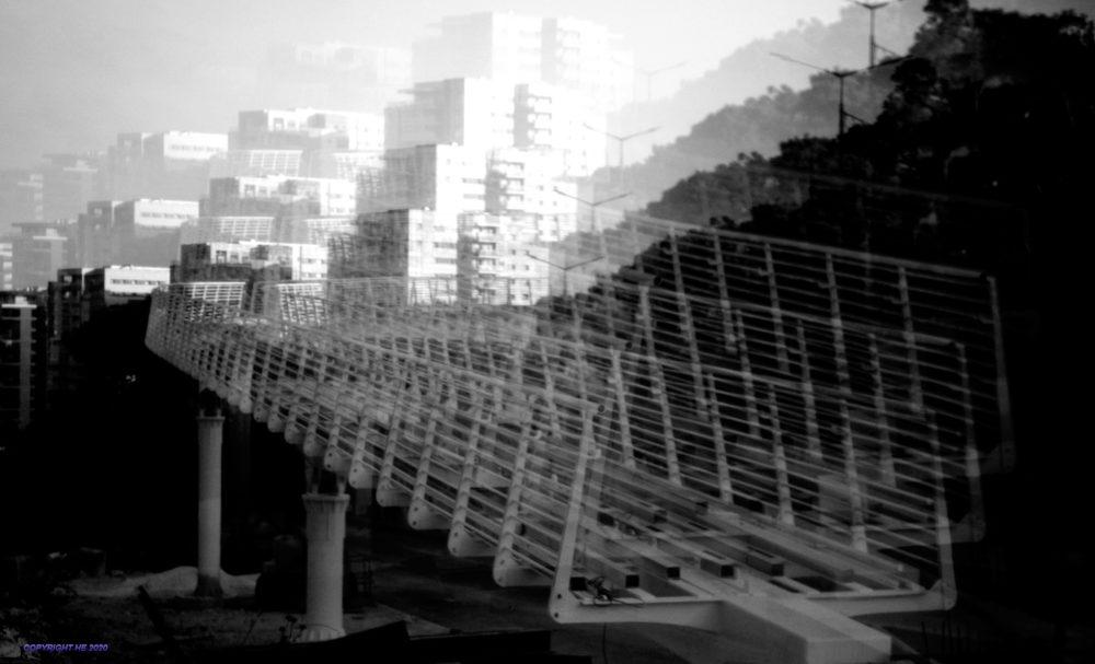 גשר הרכבל באונברסיטת חיפה (צילום: אהוד הלפרין)
