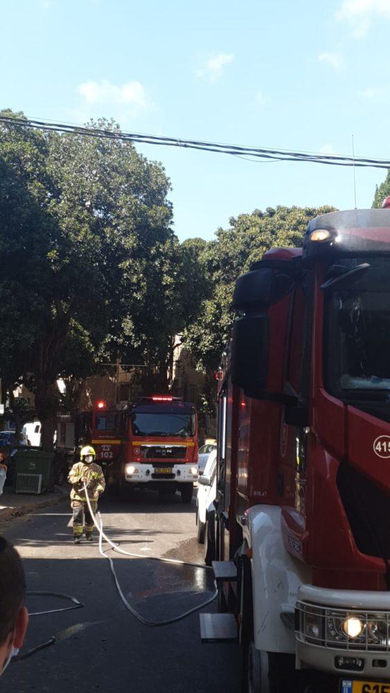פיצוץ ברחוב גאולה (צילום: איחוד הצלה)