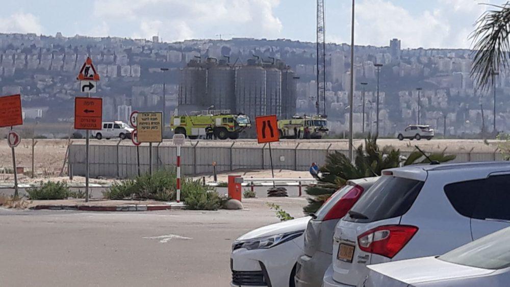 חסימת כבישים סמוך לשדה התעופה בחיפה