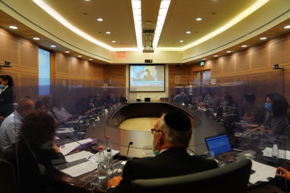 ועדת החוקה תקנות קורונה (צילום: דוברות הכנסת, עדינה ולמן)