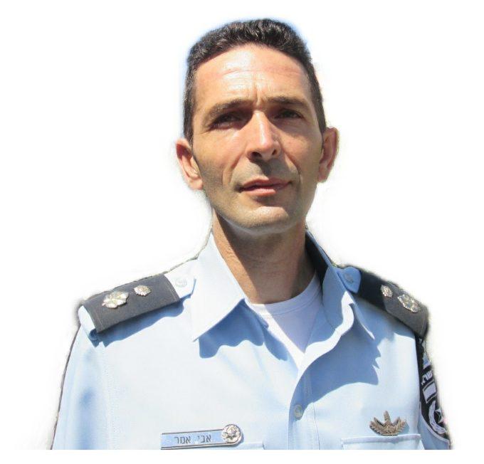"""סנ""""צ אבי עמר, מפקד תחנת טירת כרמל הנכנס (צילום: דוברות המשטרה)"""