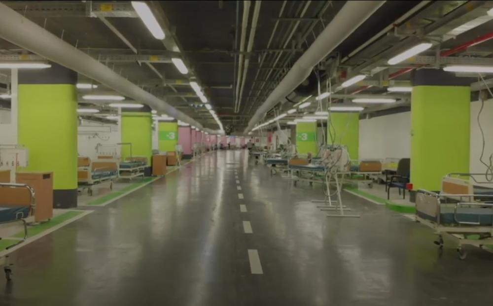 """בית החולים התת קרקעי לקורונה ברמב""""ם (צילום: דוברות רמב""""ם)"""