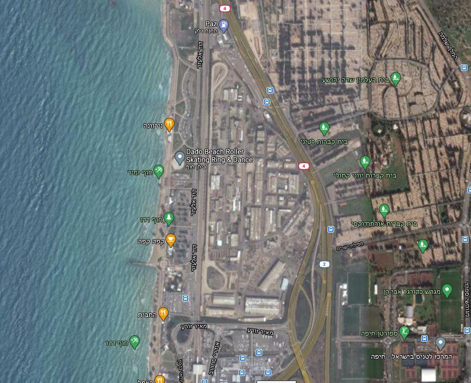 אזור המחסנים הנטושים (מתוך מפת גוגל)