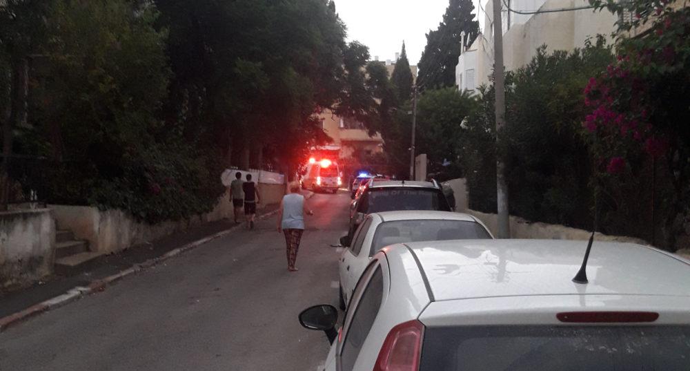 ירי ברחוב ברזילי בחיפה (צילום: חי פה)