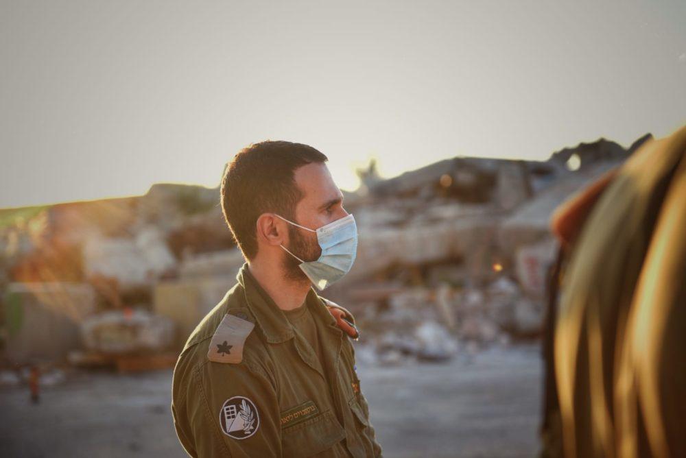 רב סרן ליאור בוקסבוים -ראש ענף אוכלוסייה במחוז חיפה (צילום: פיקוד העורף)