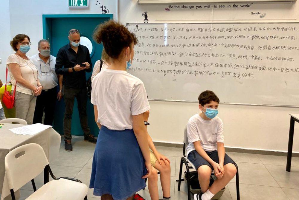 כיתה בחיפה (צילום: ראובן כהן, דוברות עיריית חיפה)