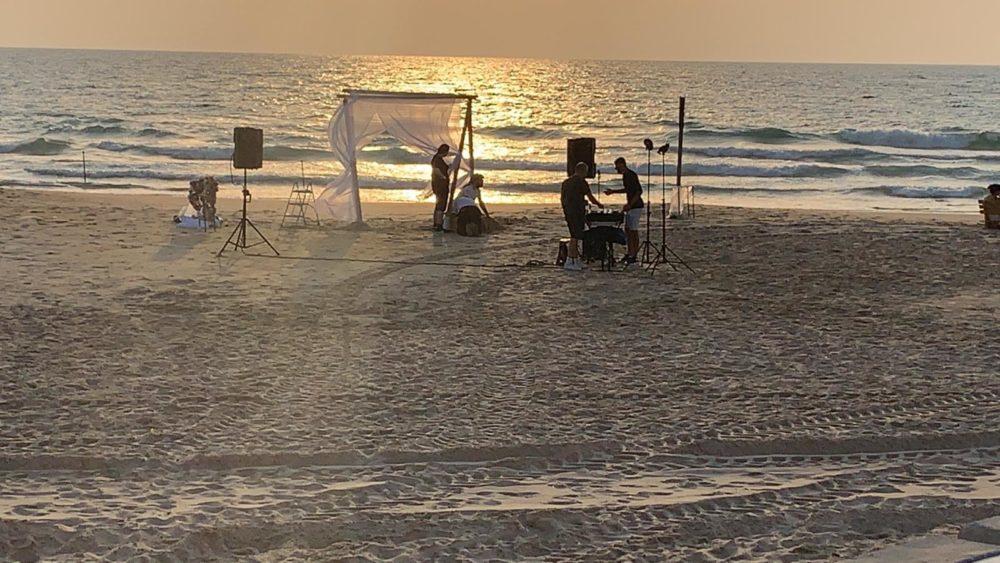 חתונה בצל הקורונה בחיפה (צילום: דוברות עיריית חיפה)