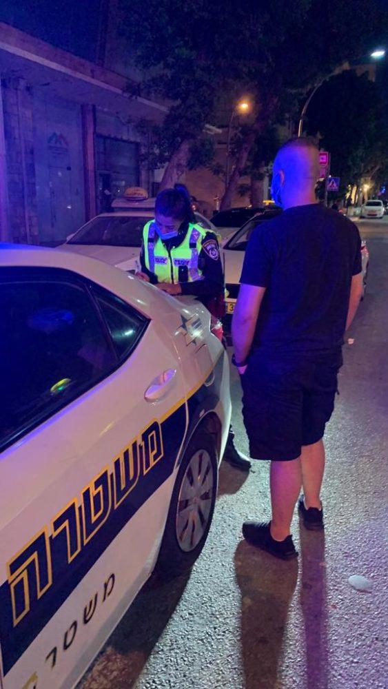 אכיפה בחיפה (צילום: דוברות המשטרה)