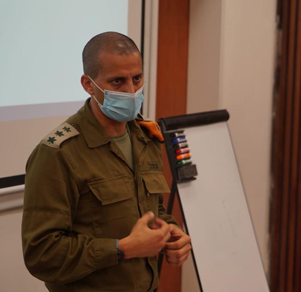 """אל""""מ אלעד אדרי מפקד מחוז חיפה בפיקוד העורף (צילום: דובר צה""""ל)"""