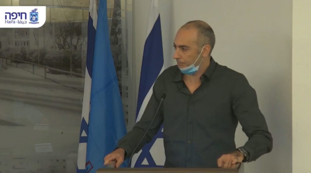 אלירן טל במועצת העיר חיפה (צילום: עיריית חיפה)